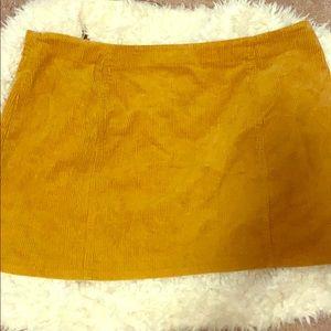 Forever 21 corduroy mini skirt size 3X